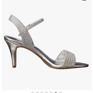 Rampage Silver Blingy Ankle Strap Sandal 8